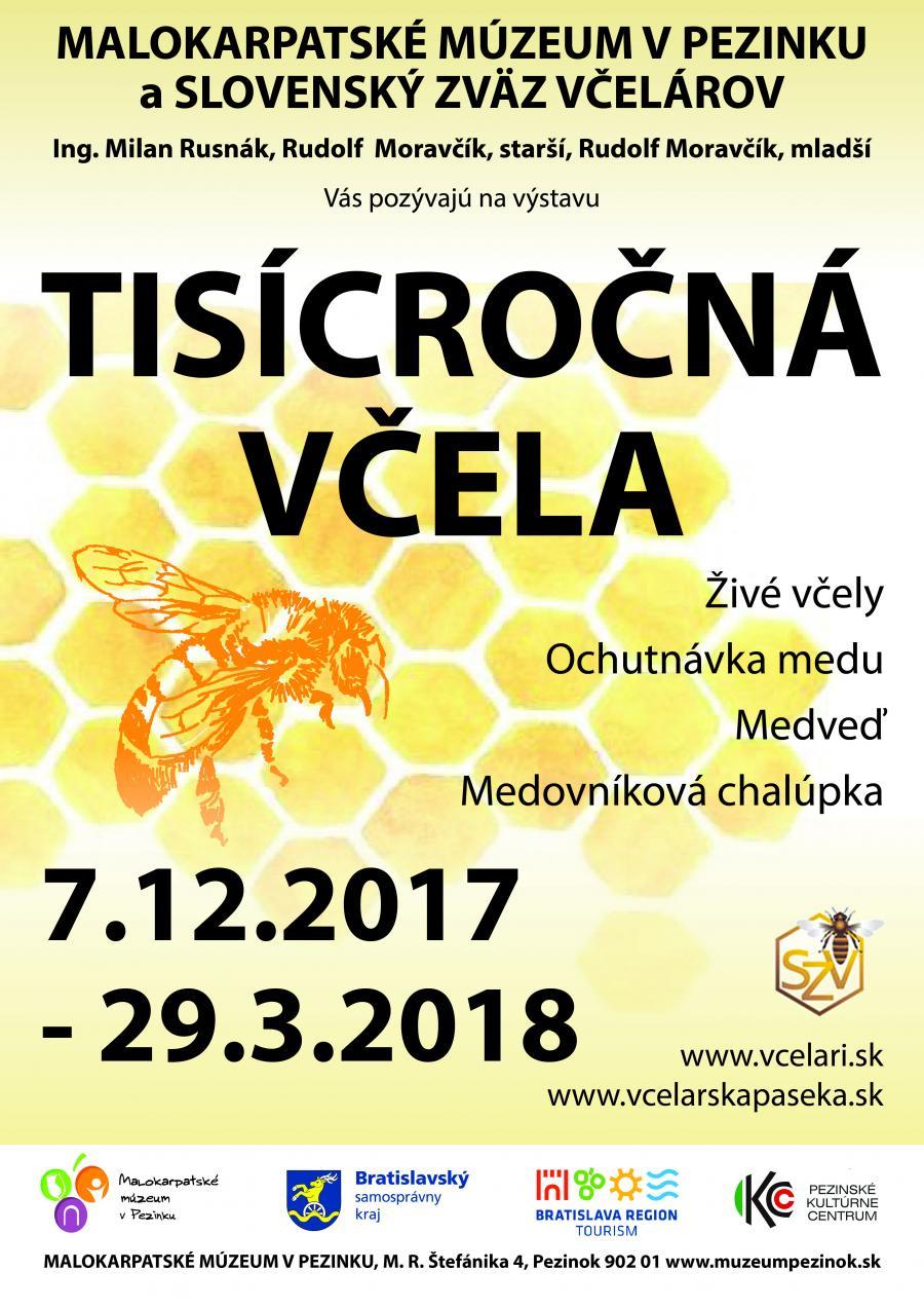 ... v spolupráci so Slovenským zväzom včelárov pripravilo výstavu s názvom  Tisícročná včela. Jej vernisáž sa uskutoční dnes o 17 00 hodine ... 678ddea02fe
